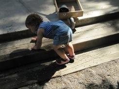El petit desnivell és un repte i una manera d'evitar la invasió de terra al paviment de ciment