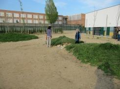 Moltes escoles en els seus espais exteriors són de terra aixafada amb una capa de sauló. Cal analitzar la qualitat del paviment que ha de acollir la plantació de vegetació.