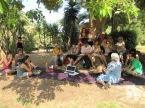 El goig de compartir amb tants mestres il·lusionats sota la Bella Ombra (Phitolaca) del Parc de la Ciutadella de Barcelona.