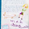 Pagina del diari amb el dibuix de la Lorena